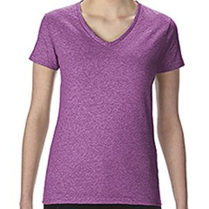 G500VL Gildan Ladies' Heavy Cotton™ 5.3 oz. V-Neck T-Shirt Thumbnail
