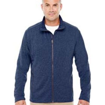 Devon & Jones Men's Fairfield Herringbone Full-Zip Jacket Thumbnail