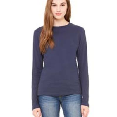 Bella + Canvas Ladies' Jersey Long-Sleeve T-Shirt Thumbnail