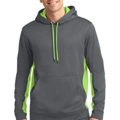 Sport Tek Sport Wick ® Fleece Colorblock Hooded Pullover Thumbnail